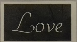 1 - 100  x Love word stencils for etching on glass  craft hobby glassware   gift present Valentines
